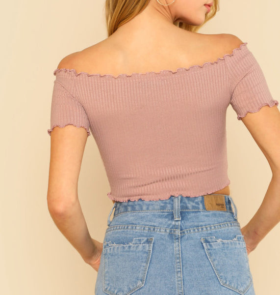 Crop Top Rosa Fruncido  *