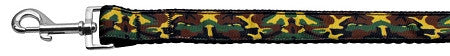 Green-Camo-Nylon-Ribbon-Dog-Collars-1-wide-4ft-Leash