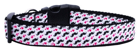 Moustache-Love-Ribbon-Dog-Collars-Medium-