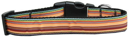 Autumn-Stripes-Nylon-Dog-Collar-Large-