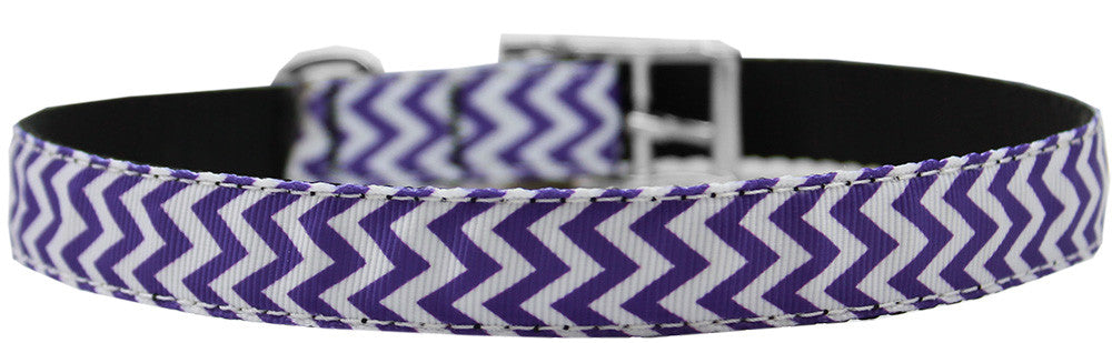 "Chevrons-nylon-collar-buckled-3-4""-Purple-Size-26"