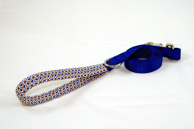 Cubic Retro × Cobalt Blue (Two-Tone Leash)
