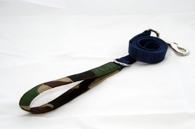 Woodland Camo × Navy Blue (Two-Tone Leash)