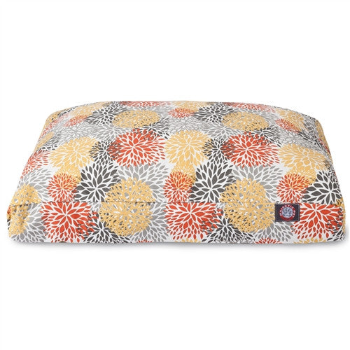 Citrus Blooms Medium Rectangle Pet Bed