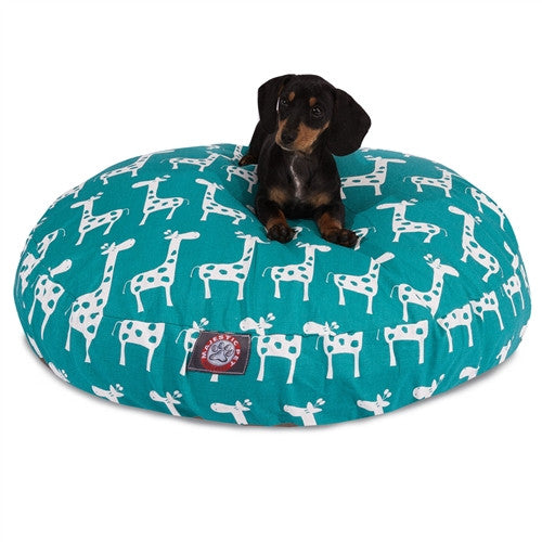 Stretch Turquoise Small Round Pet Bed