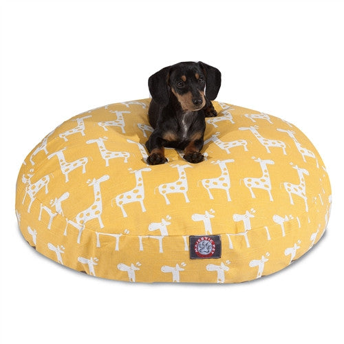 Stretch Yellow Small Round Pet Bed