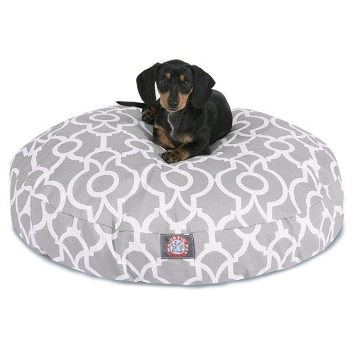 Athens Gray Small Round Pet Bed