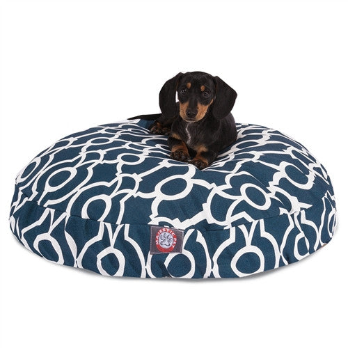 Athens Navy Small Round Pet Bed