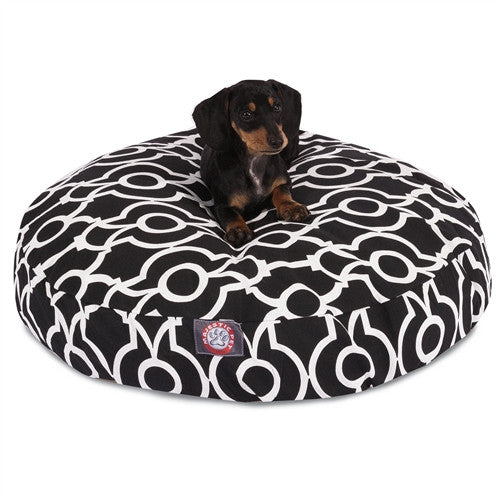 Athens Black Small Round Pet Bed