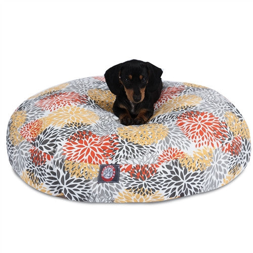 Citrus Blooms Small Round Pet Bed