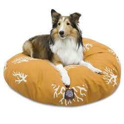 Coral Round Dog Bed