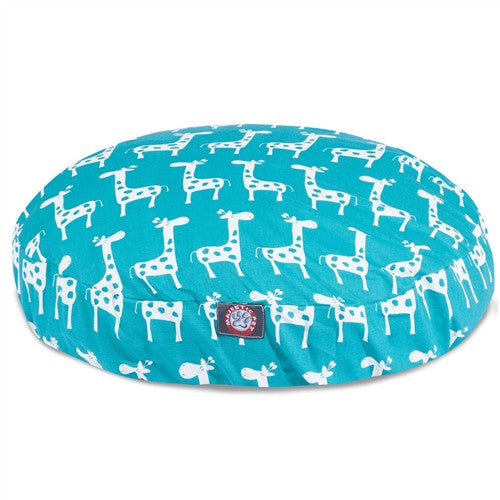 Stretch Turquoise Medium Round Pet Bed