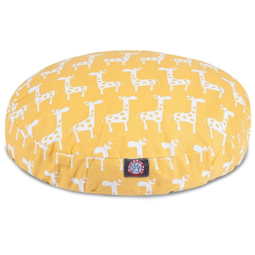 Stretch Yellow Medium Round Pet Bed
