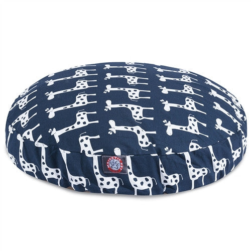 Stretch Navy Medium Round Pet Bed