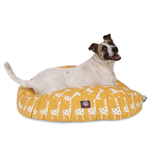 Stretch Yellow Large Round Pet Bed