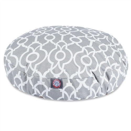 Athens Gray Large Round Pet Bed