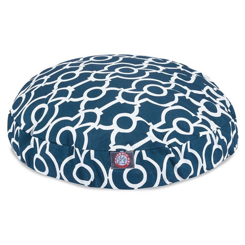 Athens Navy Large Round Pet Bed
