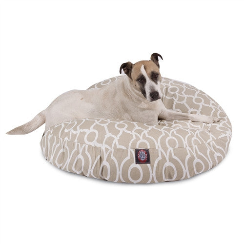 Athens Sand Large Round Pet Bed
