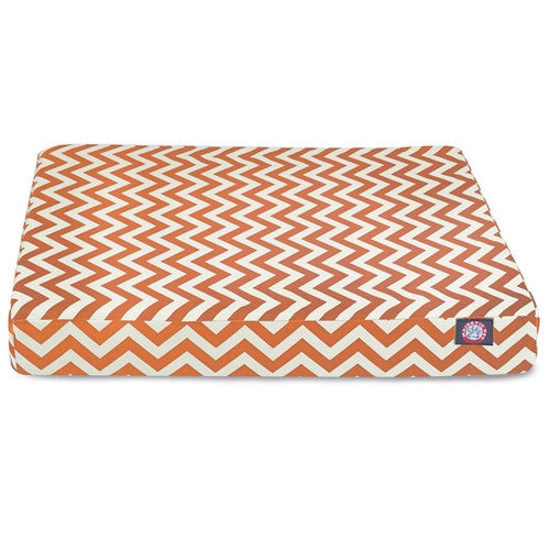 Zig Zag Memory Foam Bed Orange