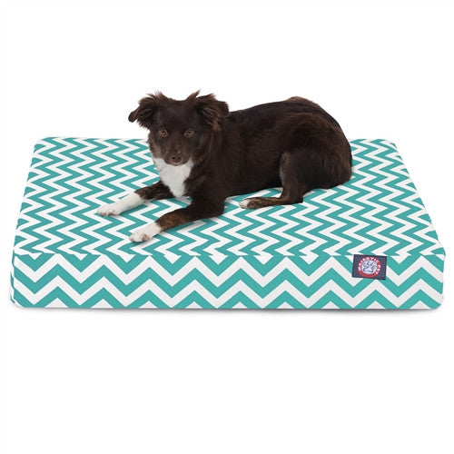 Chevron Memory Foam Bed Teal