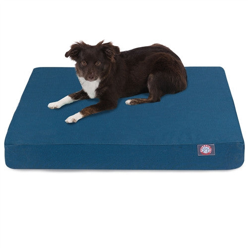 Solid Memory Foam Bed Blue