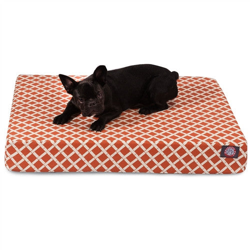 Bamboo Memory Foam Bed Orange