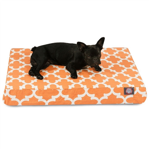 Trellis Memory Foam Bed Orange