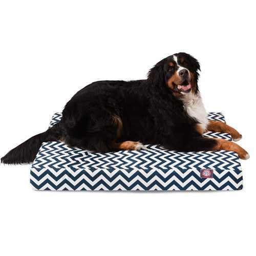 Chevron Memory Foam Bed Navy