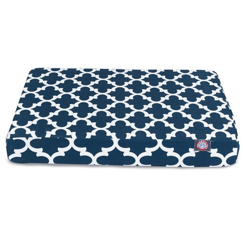Trellis Memory Foam Bed Navy