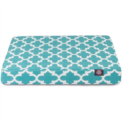 Trellis Memory Foam Bed Teal