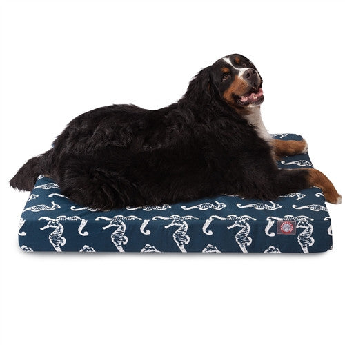 Sea Horse Memory Foam Bed Navy