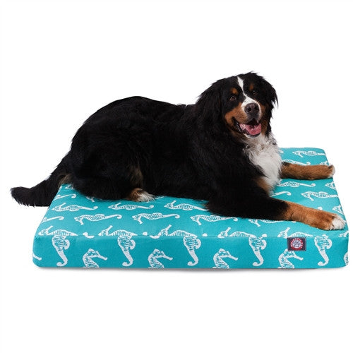 Sea Horse Memory Foam Bed Teal