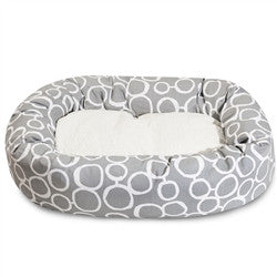 "24"" Fusion Gray Sherpa Bagel Bed"
