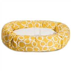 "32"" Fusion Yellow Sherpa Bagel Bed"