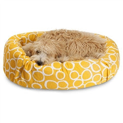 "40"" Fusion Yellow Sherpa Bagel Bed"