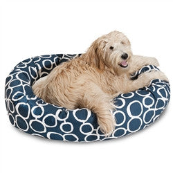 "40"" Fusion Navy Sherpa Bagel Bed"