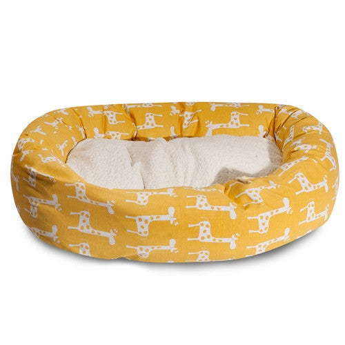 Stretch & Sherpa Bagel Bed
