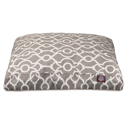 Athens Gray Small Rectangle Pet Bed