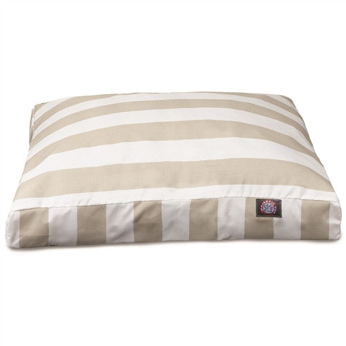 Vertical Stripe Sand Small Rectangle Pet Bed