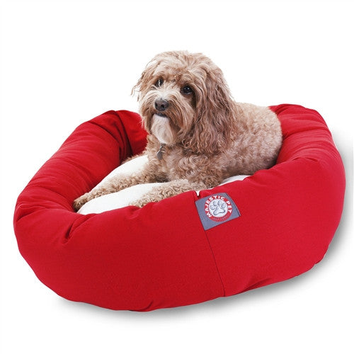 Solids & Sherpa Bagel Bed