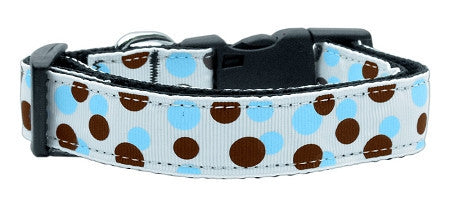 Confetti Dots - Baby Blue Nylon Collar