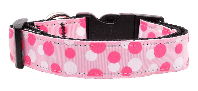 Confetti Dots - Light Pink Nylon Collar