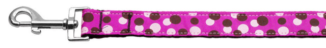 Confetti-Dots-Nylon-Collar-Fuchsia-1-wide-4ft-Lsh