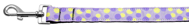Confetti-Dots-Nylon-Collar-Lavender-1-wide-4ft-Lsh