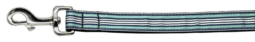 Preppy-Stripes-Nylon-Ribbon-Collars-Light-Blue-White-1-wide-6ft-Lsh