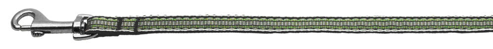 Preppy-Stripes-Nylon-Ribbon-Collars-Green-White-3-8-wide-4Ft-Lsh