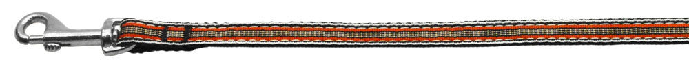 Preppy-Stripes-Nylon-Ribbon-Collars-Orange-Khaki-3-8-wide-4Ft-Lsh