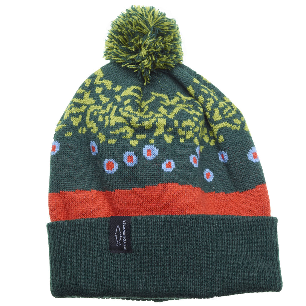 Brook Trout Skin Beanie