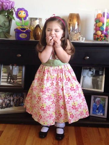 Molly in her Easter dress