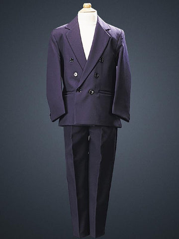 Boys Navy Double Breasted Suit  LT3593-N